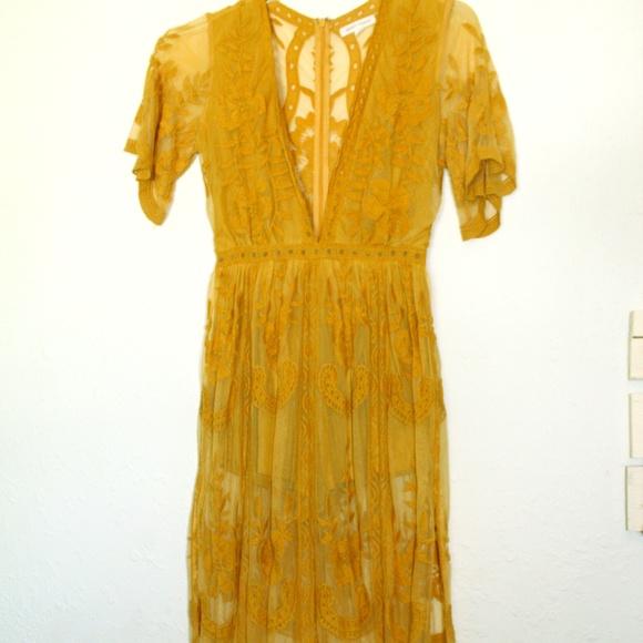 Honey Punch Dresses & Skirts - Honey Punch Mustard maxi romper